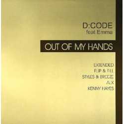 D:CODE Feat Emma ‎– Out Of My Hands double vinyl