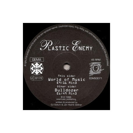 Plastic Enemy ‎– World Of Music (near new)
