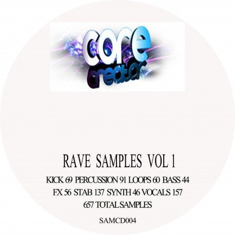 Rave samples vol 1 (samples for producers) free post UK only