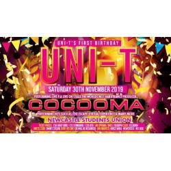 Uni-T 1st bday bash feat Cocooma sat 30th nov 2019 EB tickets