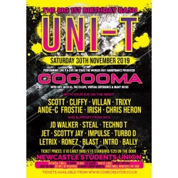 Uni-T 1sr bday bash feat Cocooma sat 30th nov 2019 STD tickets no BF