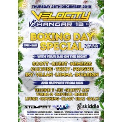 Velocity vs Hangar 13 boxing day 2019 special standard tickets no booking fee charge