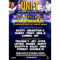 Uni-T Sat 29th march 2020 standard tickets no booking fee charge