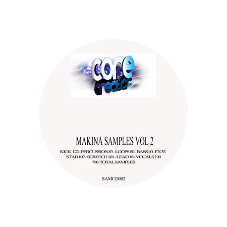 Makina samples vol 2 FREE POST & PACK UK ONLY